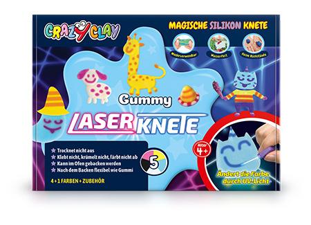 CrazyClay Gummy Laserknete - Frontal