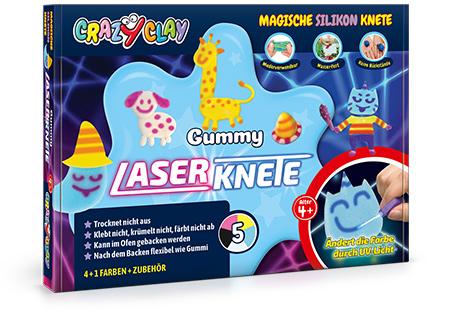 CrazyClay Gummy Laserknete - Frontal perspektivisch