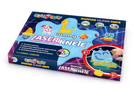 CrazyClay Gummy Leuchtknete - Liegend