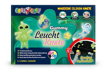 CrazyClay Gummy Leuchtknete - Frontal