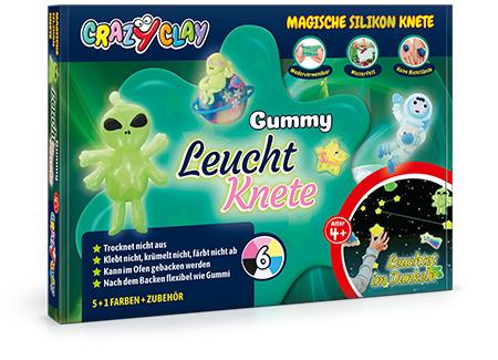 CrazyClay Gummy Leuchtknete - Frontal perspektivisch