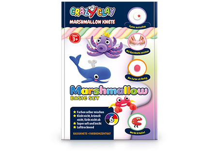CrazyClay Marshmallow Knete - Basic set - Frontal
