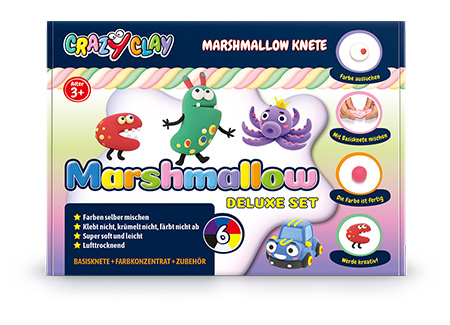 CrazyClay Marshmallow Knete - Deluxe set - Frontal