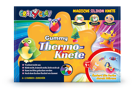 CrazyClay Gummy Thermoknete - Frontal