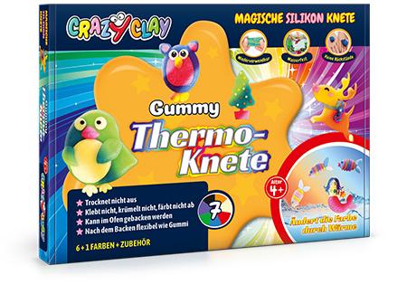 CrazyClay Gummy Thermoknete - Frontal perspektivisch