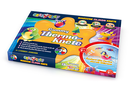 CrazyClay Gummy Thermoknete - Liegend
