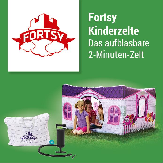 Fortsy Kinderzelte - Das aufblasbare 2-Minuten-Zelt