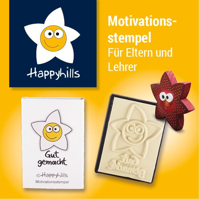Happyhills Motiviationsstempel - Für Eltern und Lehrer