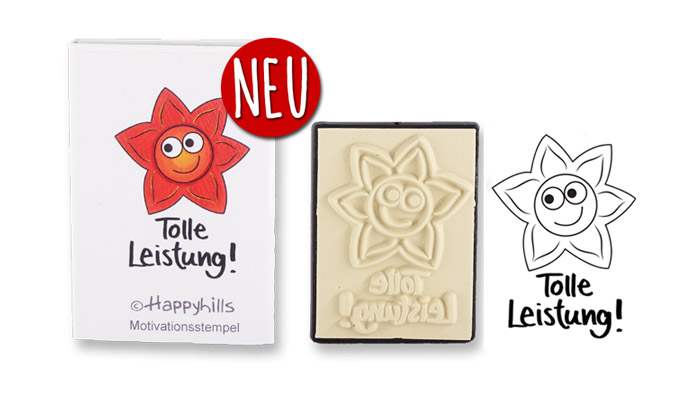 Happyhills Motivationsstempel - Tolle Leistung!