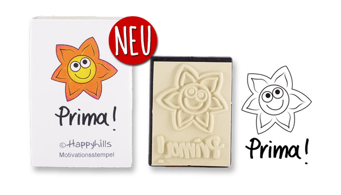 Happyhills Motivationsstempel - Prima!