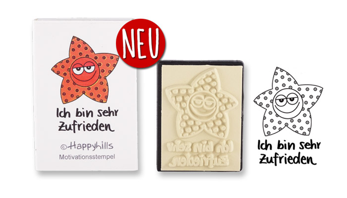 Happyhills Motivationsstempel - Ich bin sehr zufrieden
