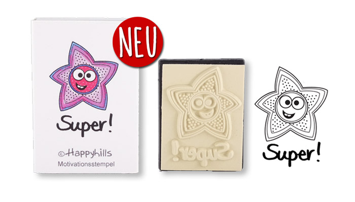 Happyhills Motivationsstempel - Super!