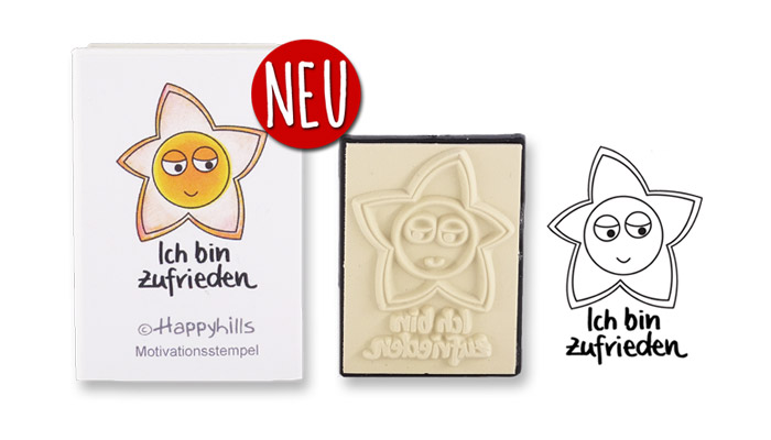 Happyhills Motivationsstempel - Ich bin zufrieden